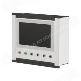 10002216 - CC-4000 - CUSTODIA DI COMANDO 529X543X140 mm RAL 5024P, NO PIASTRA  FRONT., PIASTRA POST. SPESSORE 4MM, FISS. VITI