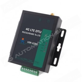 USR-G786-E - Industrial Serial Cellular 4G LTE Modem supports Modbus RTU to TCP, TCP Server, SMS