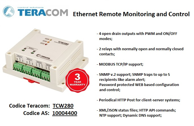 ETHERNET REMOTE MONITORING AND CONTROL